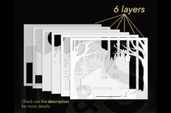 3D Christmas truck shadow box layers preview