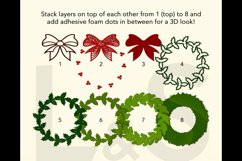 3D Christmas wreath shadowbox layers preview