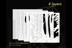 3D dog shadow box layers preview