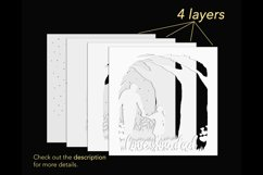 3D father shadow box template layers