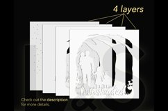 3D Father's Day Shadowbox layers preview