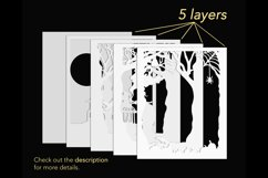 3D Halloween shadow box layers preview