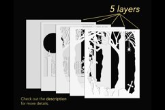 3D Halloween shadowbox layers preview