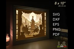 3D layered Christmas light box for baby