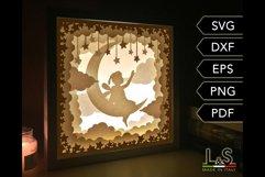 3D layered baby fairy light box