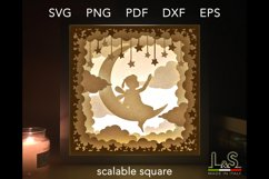 3D layered baby fairy lighted shadow box
