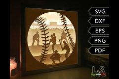 3D baseball light box