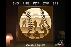 3D Layered baseball lighted shadow box