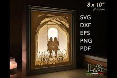 3D layered best friends light box
