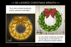 3D layered Christmas wreath ornament