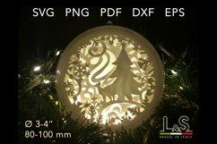 3D layered Christmas tree ornament