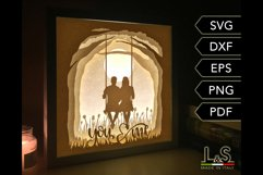 3D layered couple light box
