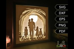 3D layered dad and kids light box