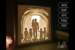 3D layered dad light box template preview