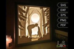 3D layered dog light box