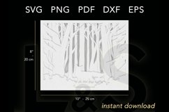 3D layered forest shadow box size