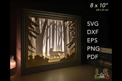 3D layered fox light box