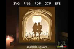 3D layered friends lighted shadow box