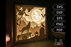 3D layered Halloween light box