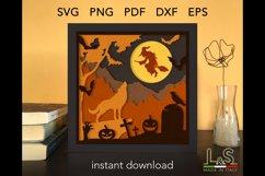3D layered Halloween shadow box