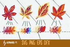 3d layered. Mandala SVG. Autumn leaves SVG Product Image 1