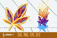 3d layered. Mandala SVG. Autumn leaves SVG Product Image 2