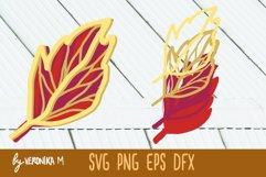 3d layered. Mandala SVG. Autumn leaves SVG Product Image 3