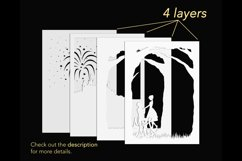 3D shadowbox template layers