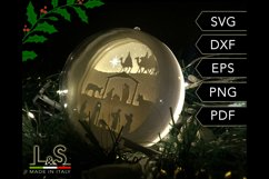 3D Layered Nativity Christmas Ball