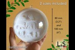 3D Layered Nativity Christmas Ornament Shadow Box