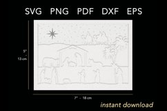 3D layered nativity light box cut file size