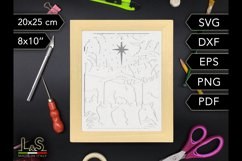 3D layered Nativity shadow box cut file preview