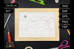 3D layered nativity shadow box cut files preview