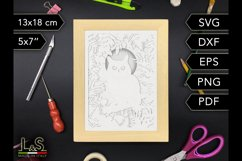 3D layered owl shadow box cut files preview