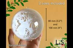 3D layered reindeer Christmas ornament size