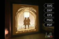 3D layered sisters light box