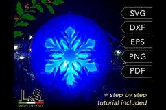 3D snowflake Christmas bauble