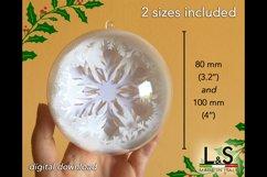 3D Snowflake Christmas ornament size