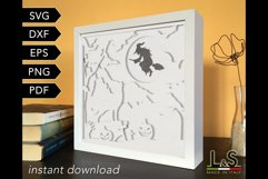 3D layered witch shadow box