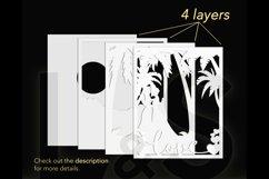3D lesbian love shadow box layers preview