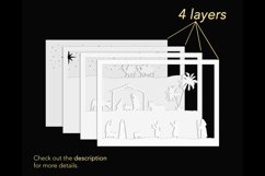 3D nativity shadowbox layers preview