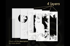 3D owl shadow box layers preview