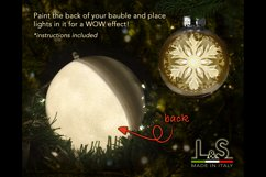 3D snowflake Christmas ornament with light