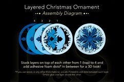 3D snowflake Christmas ornament layers preview