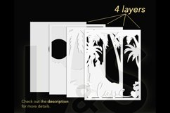 3D wedding couple shadowbox layers preview