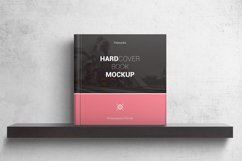 Square Hardcover Book Mockups Product Image 1