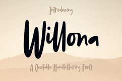 Web Font Willona - Quotable Handlettering Font Product Image 1