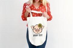 Pig face svg Pig svg Baby farm animals svg Sunflower svg Product Image 6