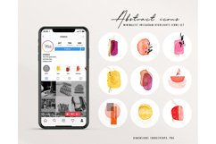 Abstract Watercolor Instagram Highlight business Icons vivid Product Image 2
