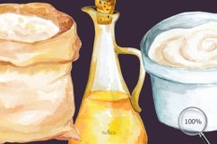 Baking Watercolor Clipart. Kitchen clipart. PNG Product Image 5